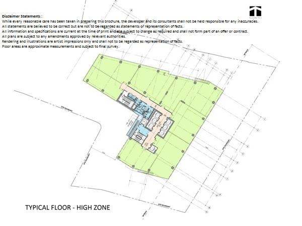 Floor Plan High Zone Altira Office Tower