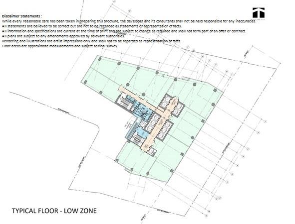 Floor Plan Low Zone Altira Office Tower